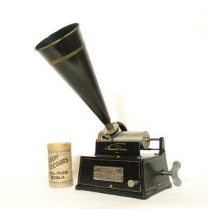 "1899 Edison ""Drip Pan"" Gem Cylinder Phonograph"