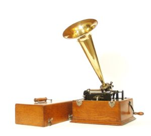 "Early Edison ""Suitcase"" Style Standard Phonograph"