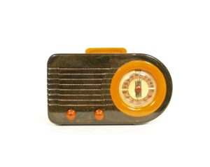 Fada 115 Blue Marble Catalin Bullet Radio