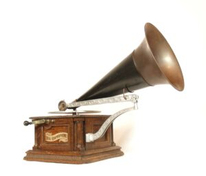 1901 Columbia Nickel-Bed AH Phonograph * First AH * Unusual & Uncommon