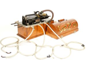 1897 Edison Home Phonograph With Original Listening Rail, Standard Speaker, Etc. * Near Mint Condition