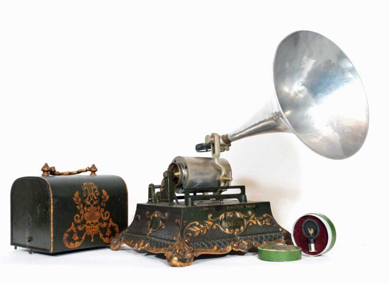 1903 Pathe Le Menestrel Cylinder Phonograph * J. Girard & Cie * Paris