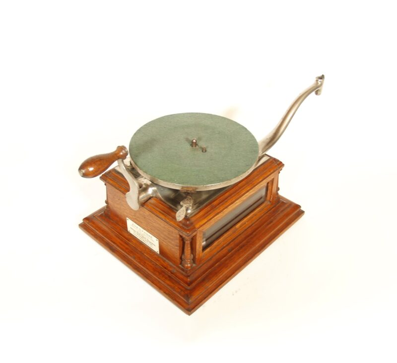 """1901 Zon-O-Phone Glass-Sided """"A"""" Phonograph"""