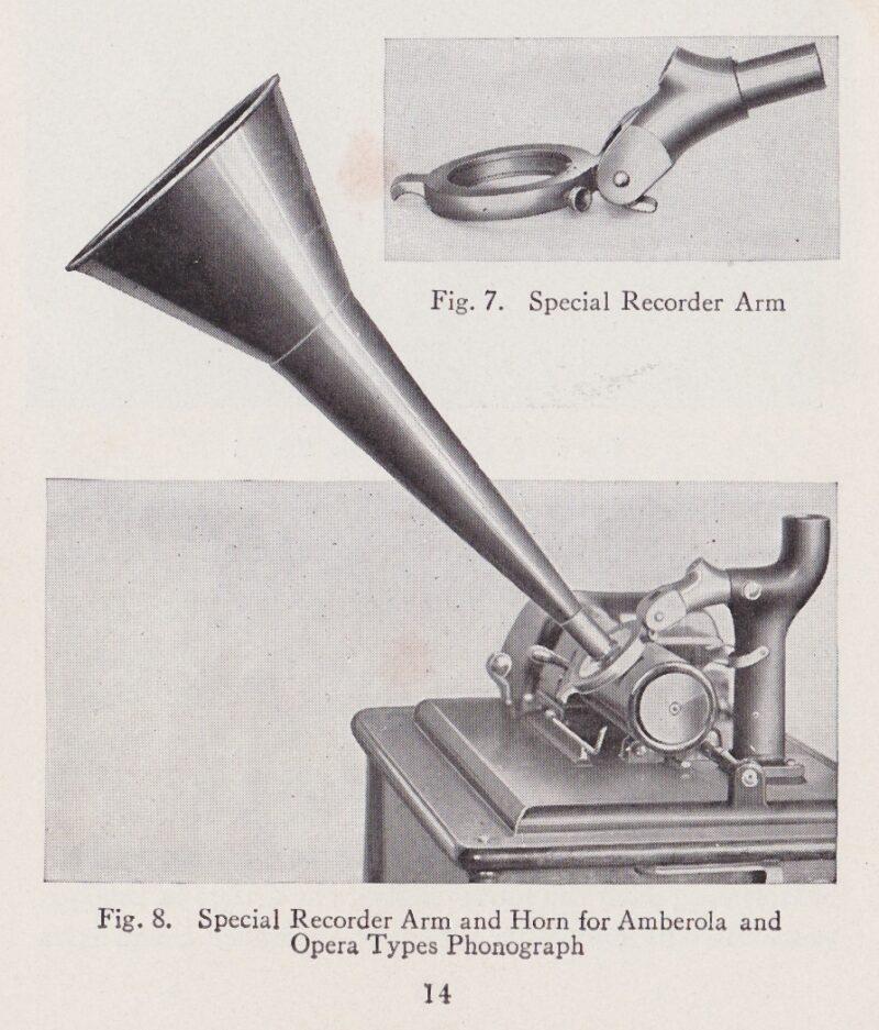 Original Recording Attachment For Edison Opera Phonograph