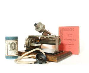 1905 Lewis Phono-Metro-Phone With Cylinder, Listening Tube, Treatise