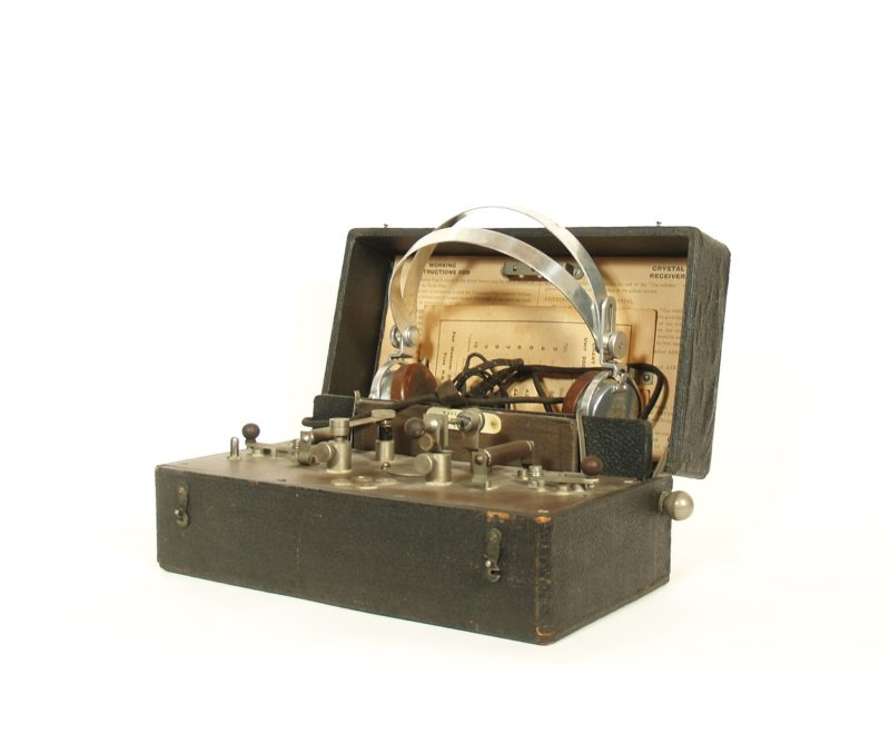 1922 Marconiphone Crystal A Radio With S.G. Brown Headset