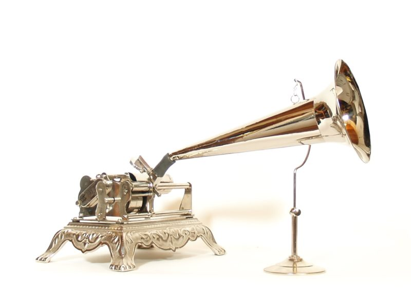 1898 Columbia BXP Nickeled & Polished Phonograph