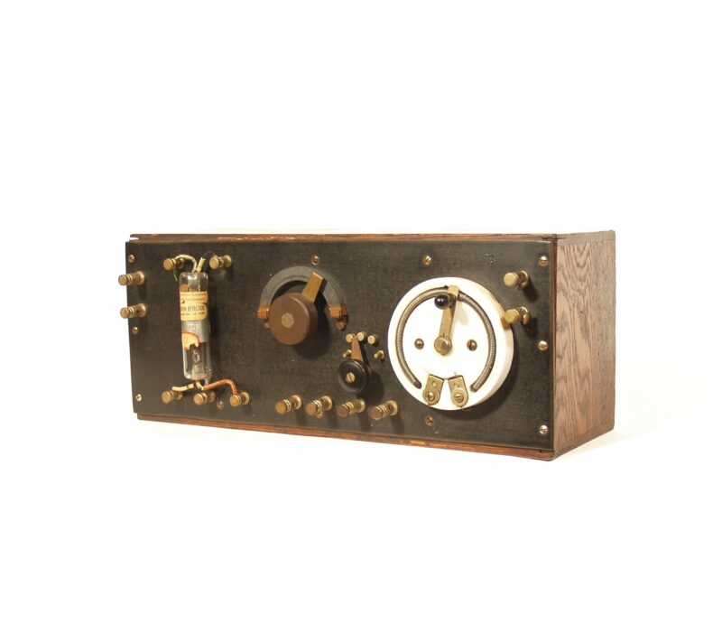 C. 1916 Audion Control Box With Deforest Audion Radio Detector