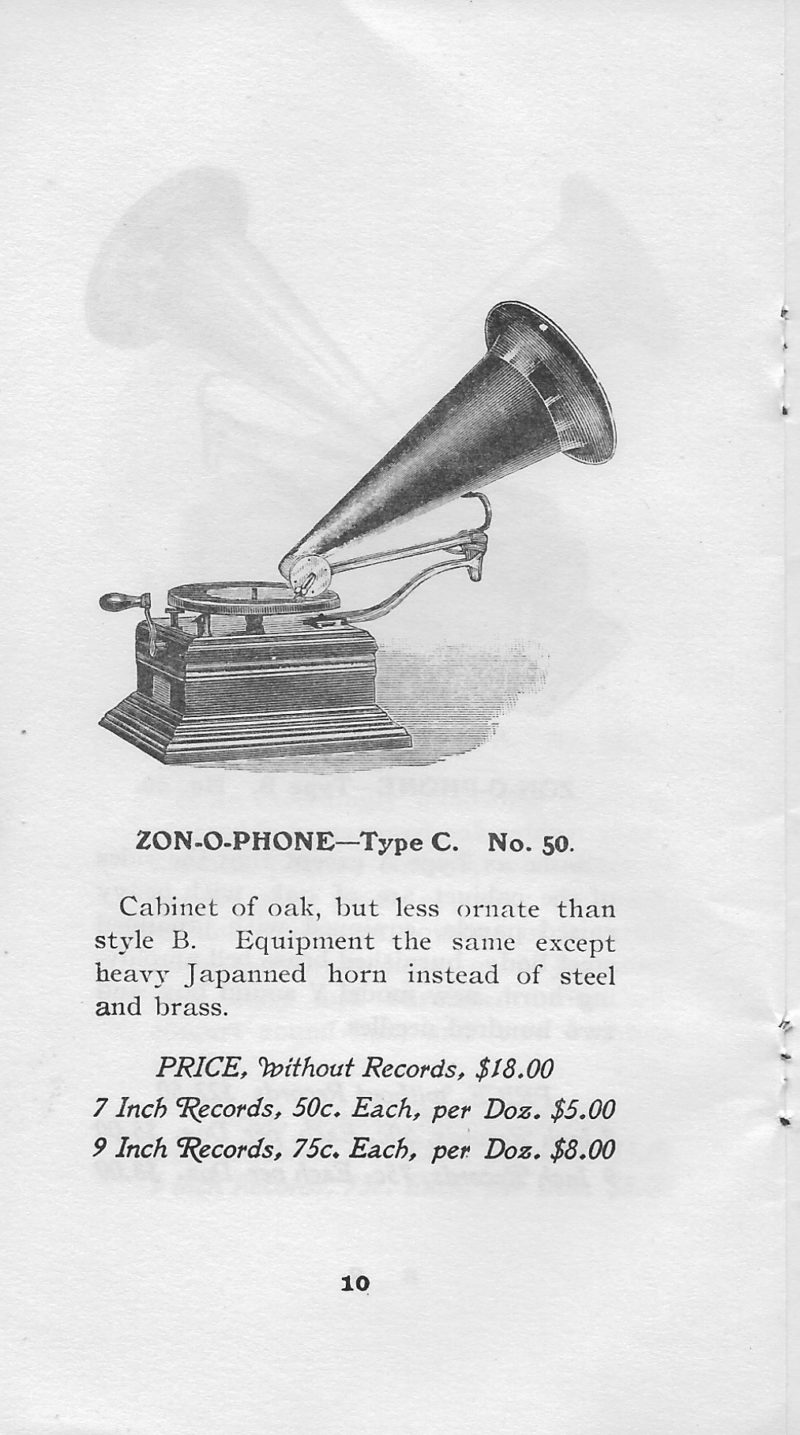 Zonophone C Phonograph With Eureka Carrying Case