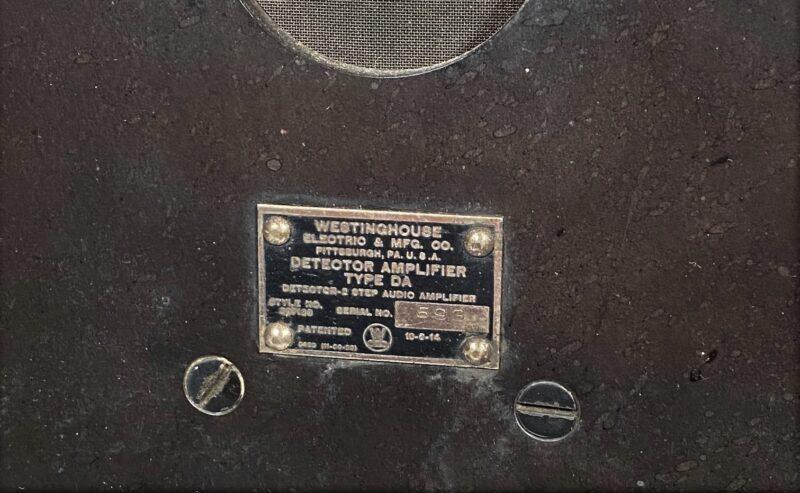 "1920 ""Pittsburgh"" RA & DA Radio Receiving Set"