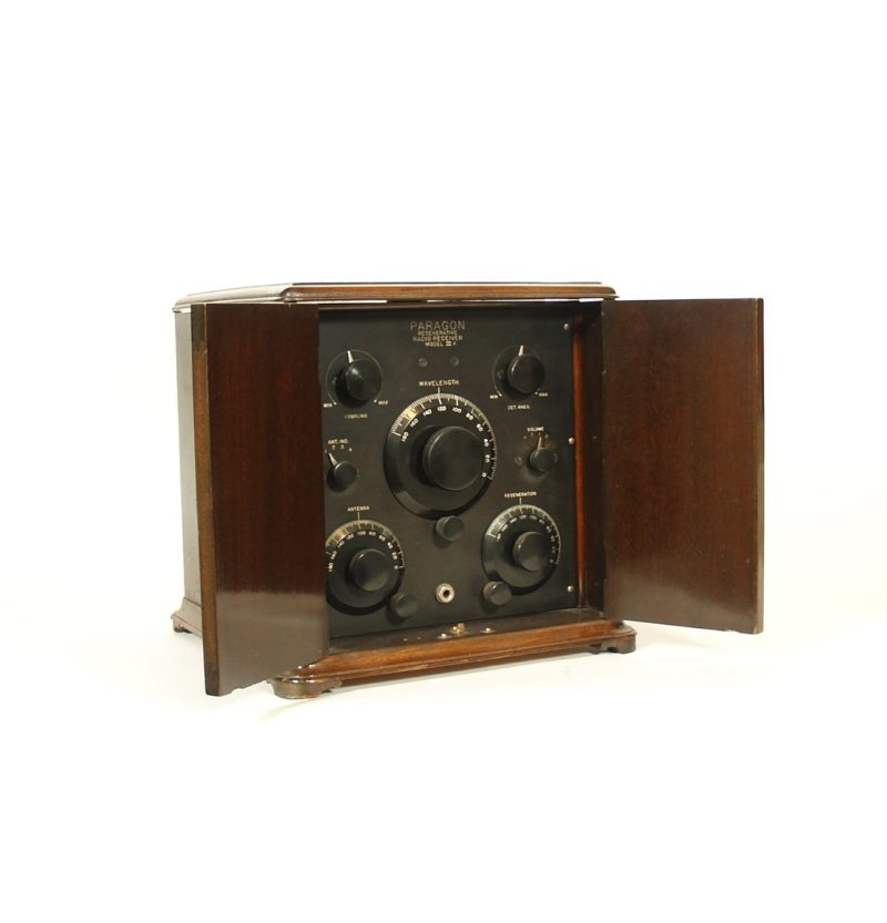 1923 Paragon 3A Radio In Parquet Smoker's Cabinet