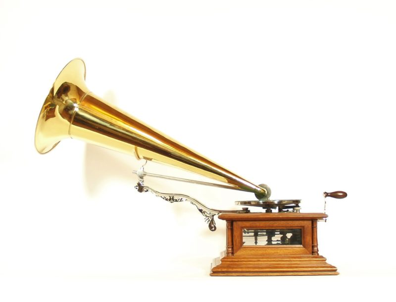 1902 Zon-O-Phone Glass-Sided London Grand Phonograph