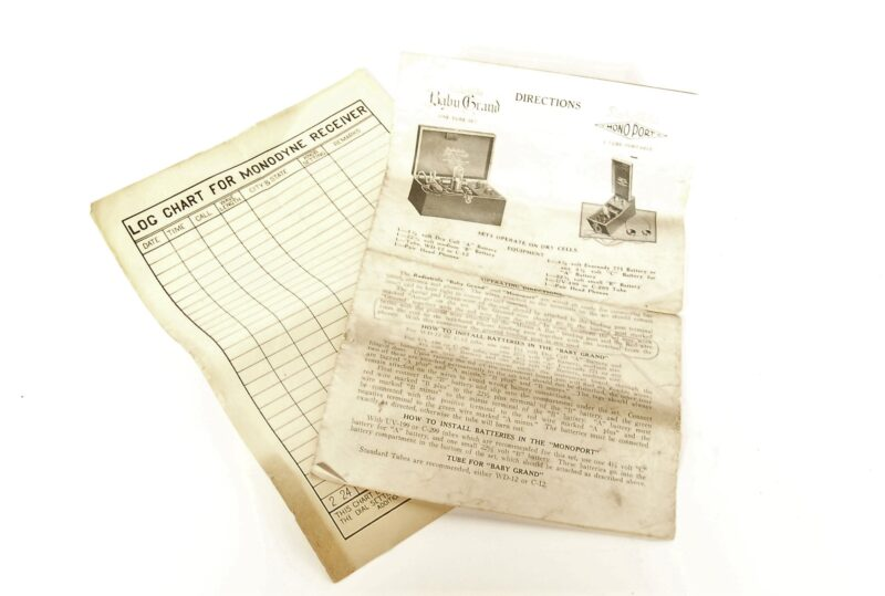 1923 Radiotrola Baby Grand 1-Tube Radio