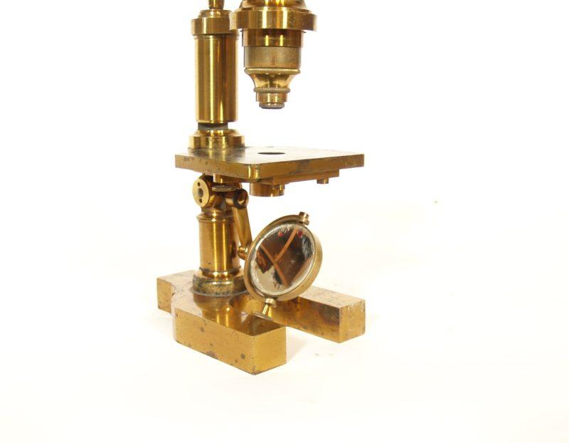 c. 1875 Hartnack & Prazmowski Microscope In Original Dove-Tailed Case * Paris