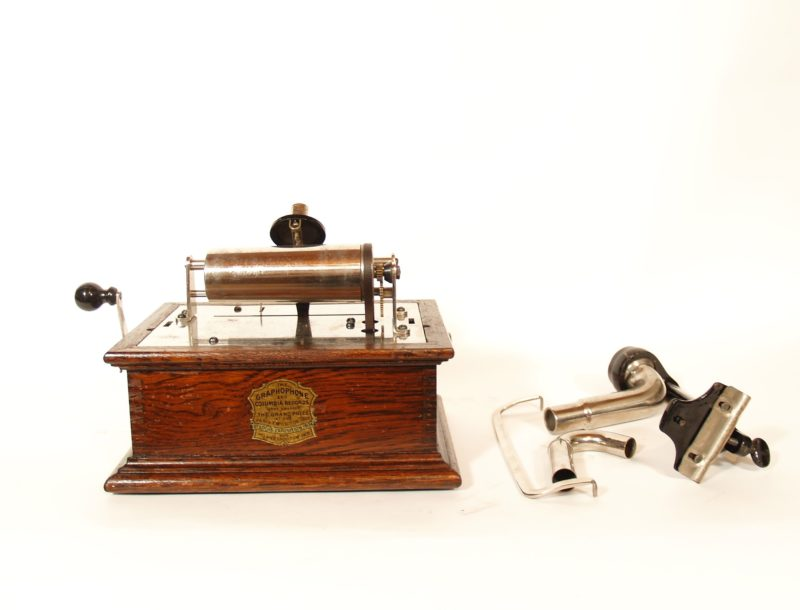 1907 Columbia BVT Cylinder Phonograph With Removable Back-Bracket