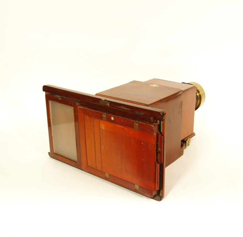 C. 1860 Sliding Box Wet Plate Camera With Repeating Back, Signed R.W. Thomas