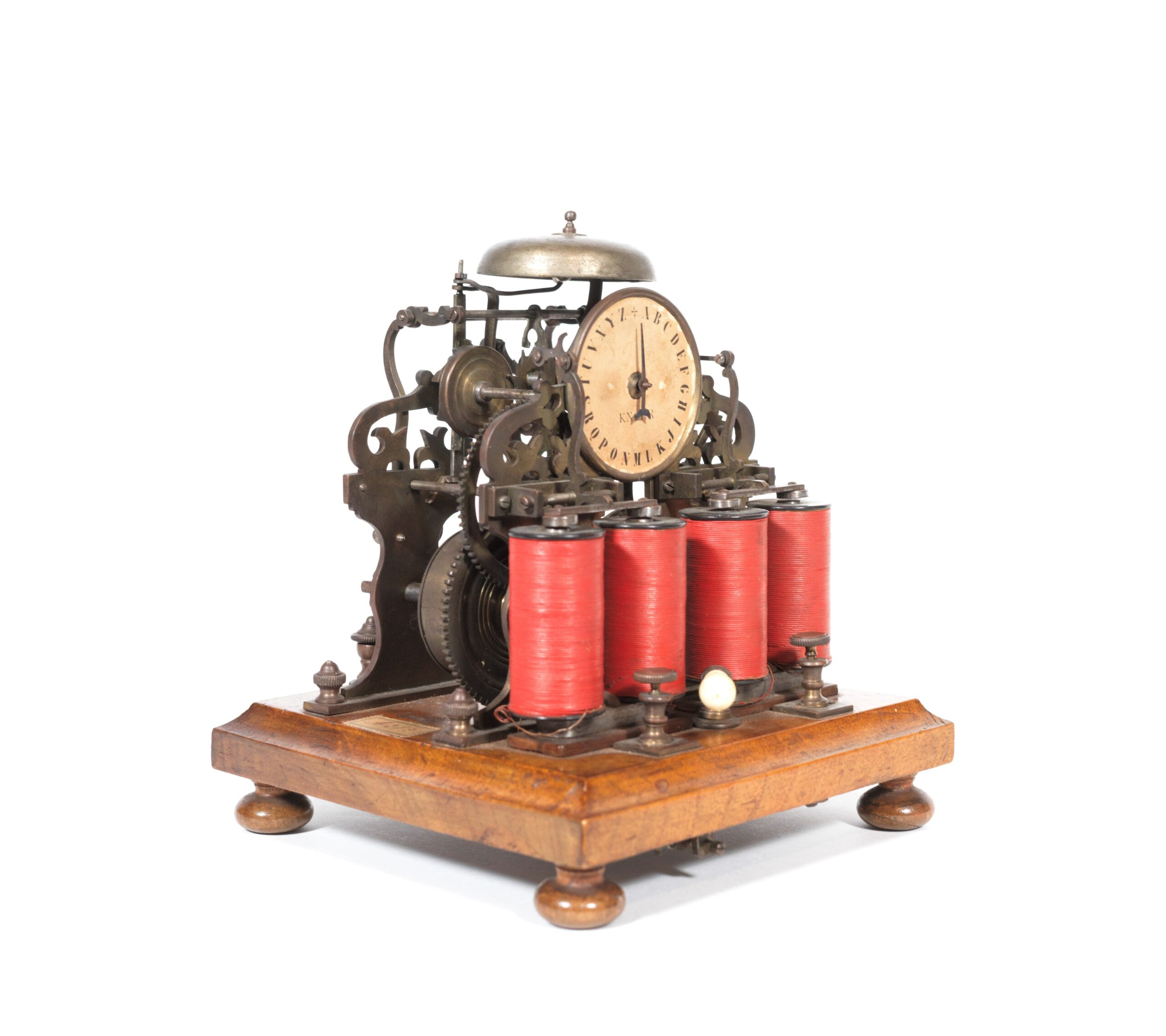 1850 ABC Telegraph With Elaborate Clockwork, Bell & Twin Electro-Magnets * Signed Knorr
