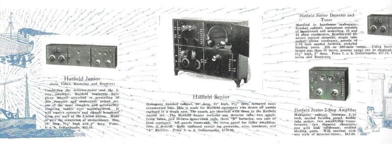 1921 Hatfield Senior Interpanel Radio * Made In Indianapolis