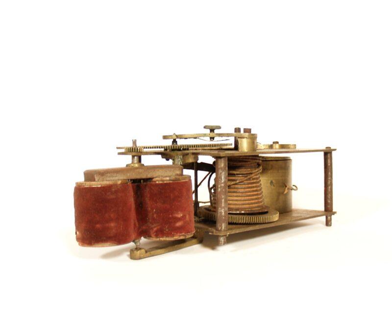 1860 Matthews Spring Motor Electro Magneto Machine With Clockwork Fusee Movement