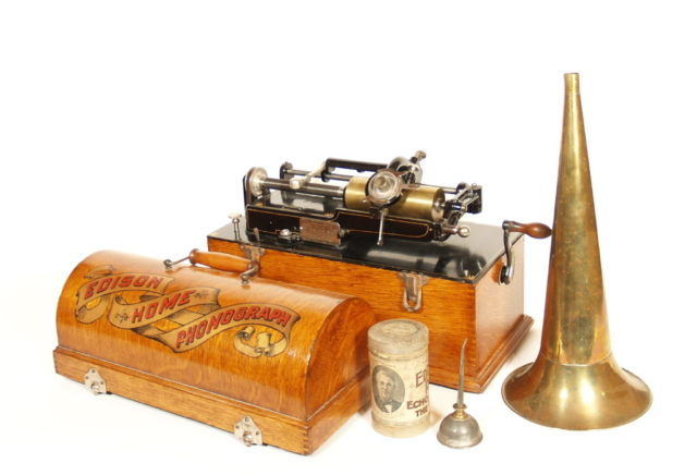 Early Edison Home Phonograph With Weighted Half-Nut