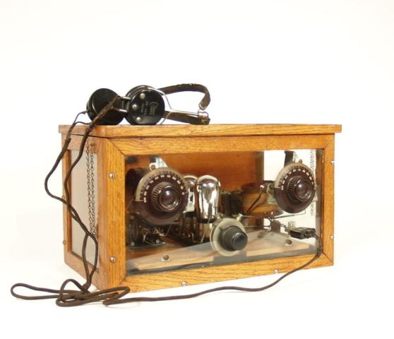 Homemade Glass Panel Crystal Radio